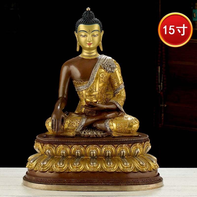 تمثال بوذا كبير عالي الجودة مقاس 49 سنتيمتر ، لهيكل المنزل ، والمذبح ، وصلاة الأسرة ، وحماية الله ، والتذهيب البوذي ، وتمثال شاكياموني