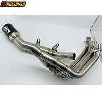 for honda cbr650f cbr650r cb650f cb650r 15 20 motorcycle exhaust full system with titanium alloy header tube carbon muffler pipe