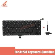 Nouveau clavier dordinateur portable canadien A1278 pour Macbook Pro 13