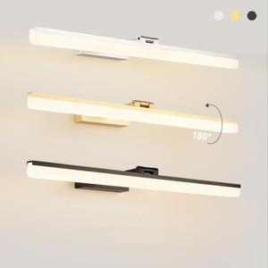Sanmusion led mirror lamp waterproof aluminum acrylic mounted vanity wall lamp for bedroom bathroom hotel makeup dress lighting
