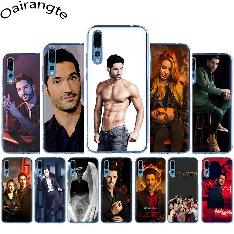 Lucifer Tom Ellis TV duro caso de la cubierta del teléfono para Huawei Honor 6A 7A 7X 7C 8X 8C 9X20 Pro 8 9 10 Lite