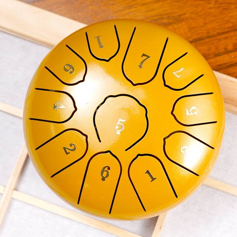 Mini Ethereal Drum 6 Inch 8/11 Tone Forgetting Worry Drum Music Drums Percussion Electric Drums Instrument Tongue Tambourine