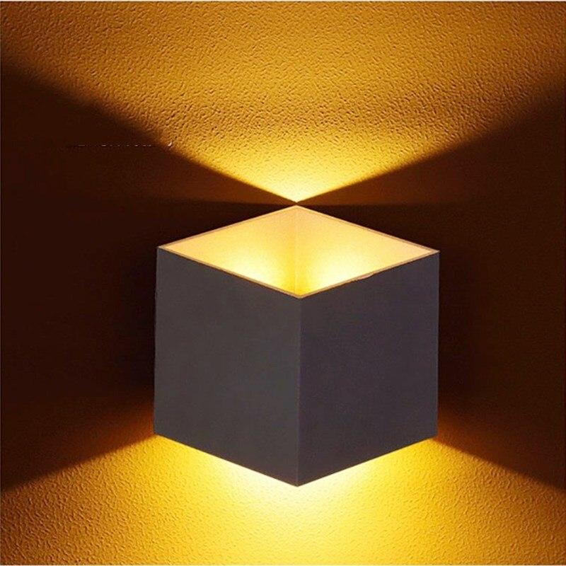 Lámpara Led de pared Kenlux de 10W, lámpara de pared de aluminio para exteriores, moderna para el hogar, escaleras, jardín, cabecera, baño, iluminación led de Navidad