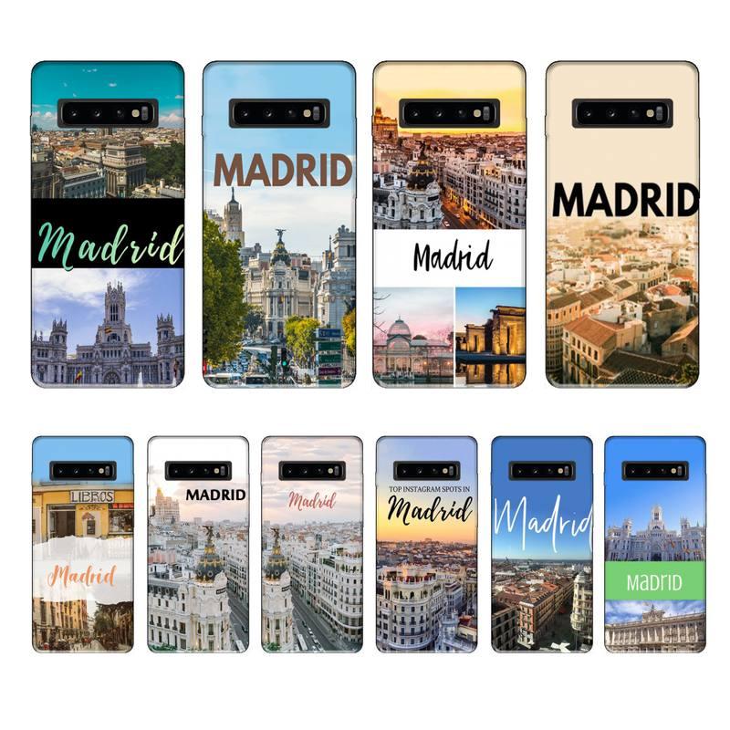 Funda negra de marca de lujo de Madrid para Samsung Galaxy S8,...