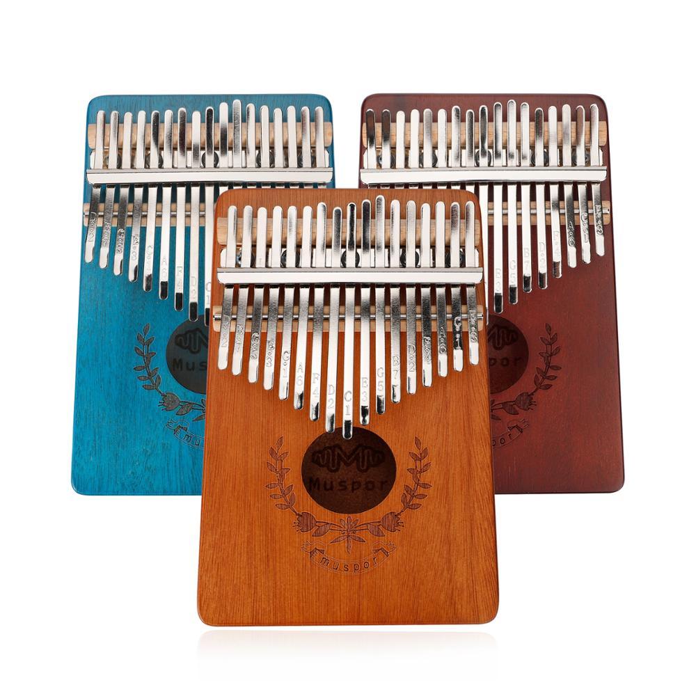 Muspor kalimba 17 chave mogno polegar dedo piano 17 llaves mbira áfrica percussão teclado instrumento musical calimba