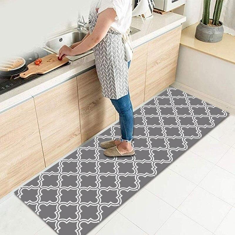 Alfombra de puerta de entrada del baño alfombra de cocina antideslizante lavable alfombra de suelo dormitorio sala de noche alfombras modernas impermeables
