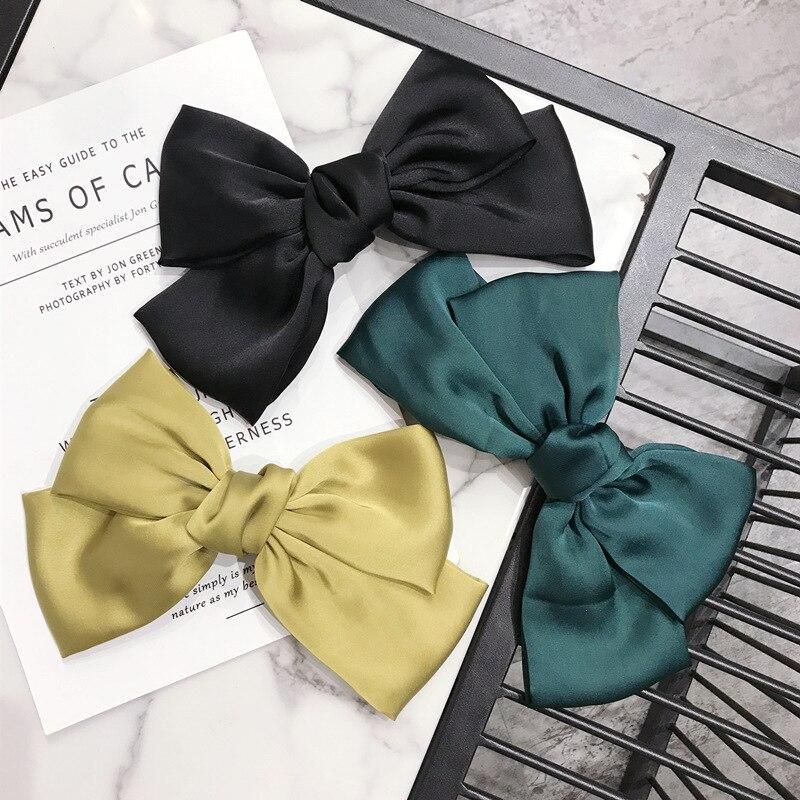 2020 Vintage Big Double Hair Bows Girls Hairband Women Hair Accessories opaska do wlosow gumki scrunchie headwear