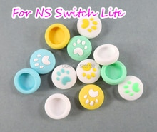 4 шт. для контроллера Nintendo Switch Lite NS Joy Con, чехол для геймпада с пальцами, милый чехол с кошачьими лапами и захватом большого пальца, крышка для джойстика