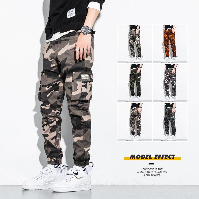 Новинка 2021, мужские Модные Повседневные уличные комбинезоны больших размеров 7XL, мужские камуфляжные брюки для бега, тактические армейские ...