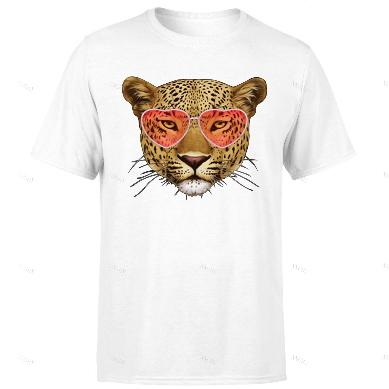 Leopard Wearing Sunglasses Unisex T Shirt Funny Animal Lovers Gift Tee Top