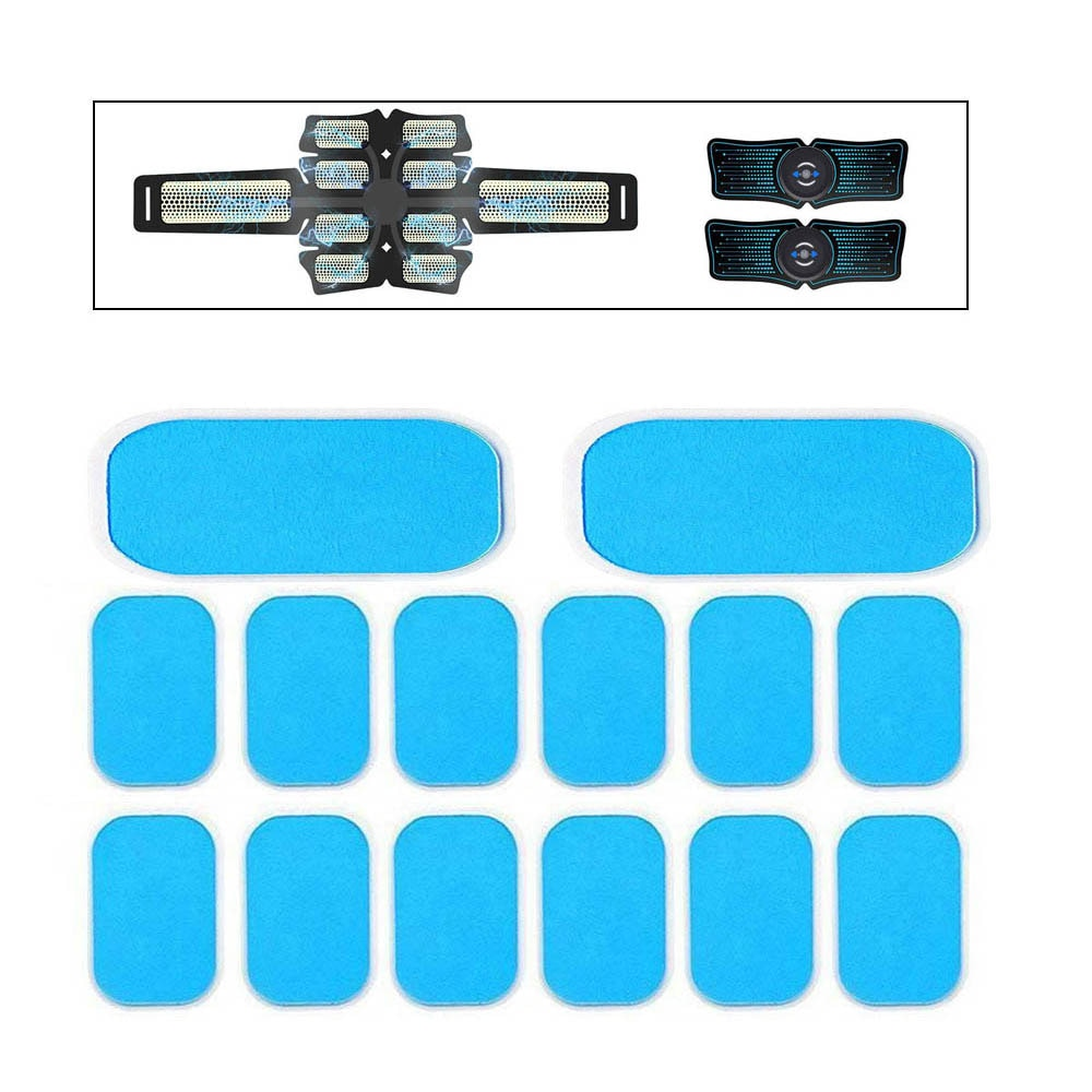 14Pcs Gel Pads for EMS Abdominal ABS Trainer Muscle Stimulator Exerciser Replacement Massager Gel Pa