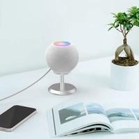 Support de haut-parleur intelligent pour HomePod Mini  support de bureau en aluminium  Base de bureau avec coussin en Silicone antiderapant
