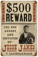 wanted jesse james metal tin sign wall art decor for living room vintage art coffee bar signs decoration retro metal sign