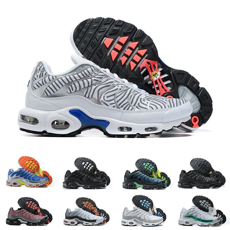 Male Tn Plus Running Shoes Mens SE Ultra Mens Stripes White Blue Designer Sneakers Retro Tns Classic Outdoor Trainers Size 40-46
