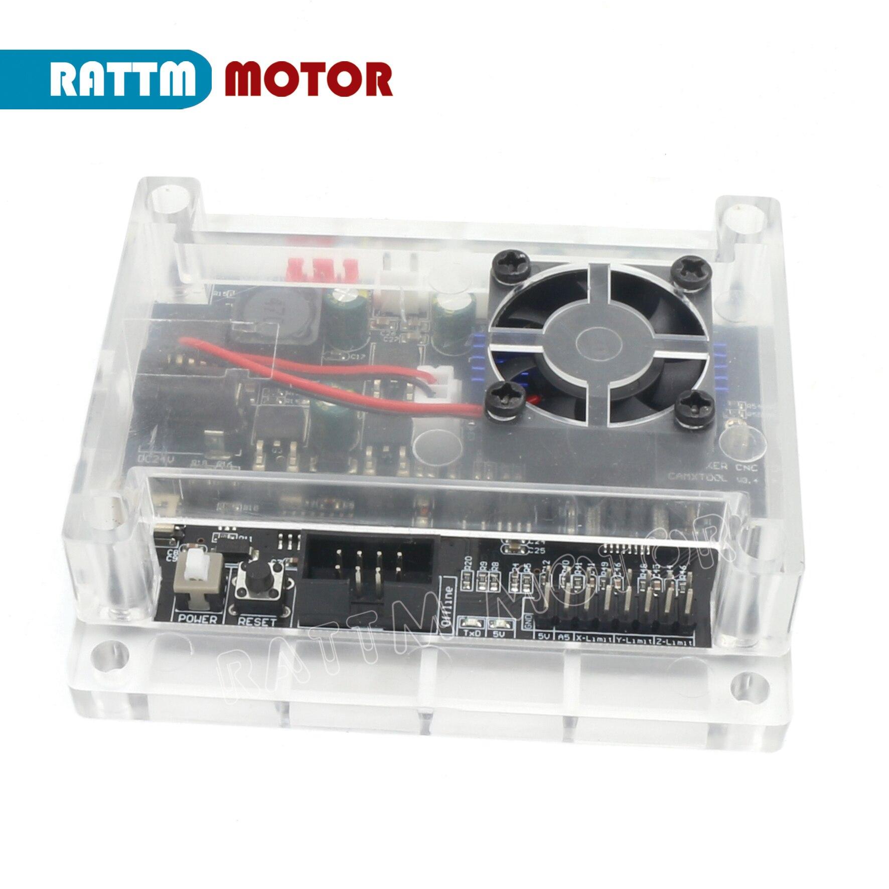 Novo grbl 1.1f porta usb 3 eixos cnc controlador placa de gravação a laser suporte da máquina de gravação anti-jamming pode usar fora de linha