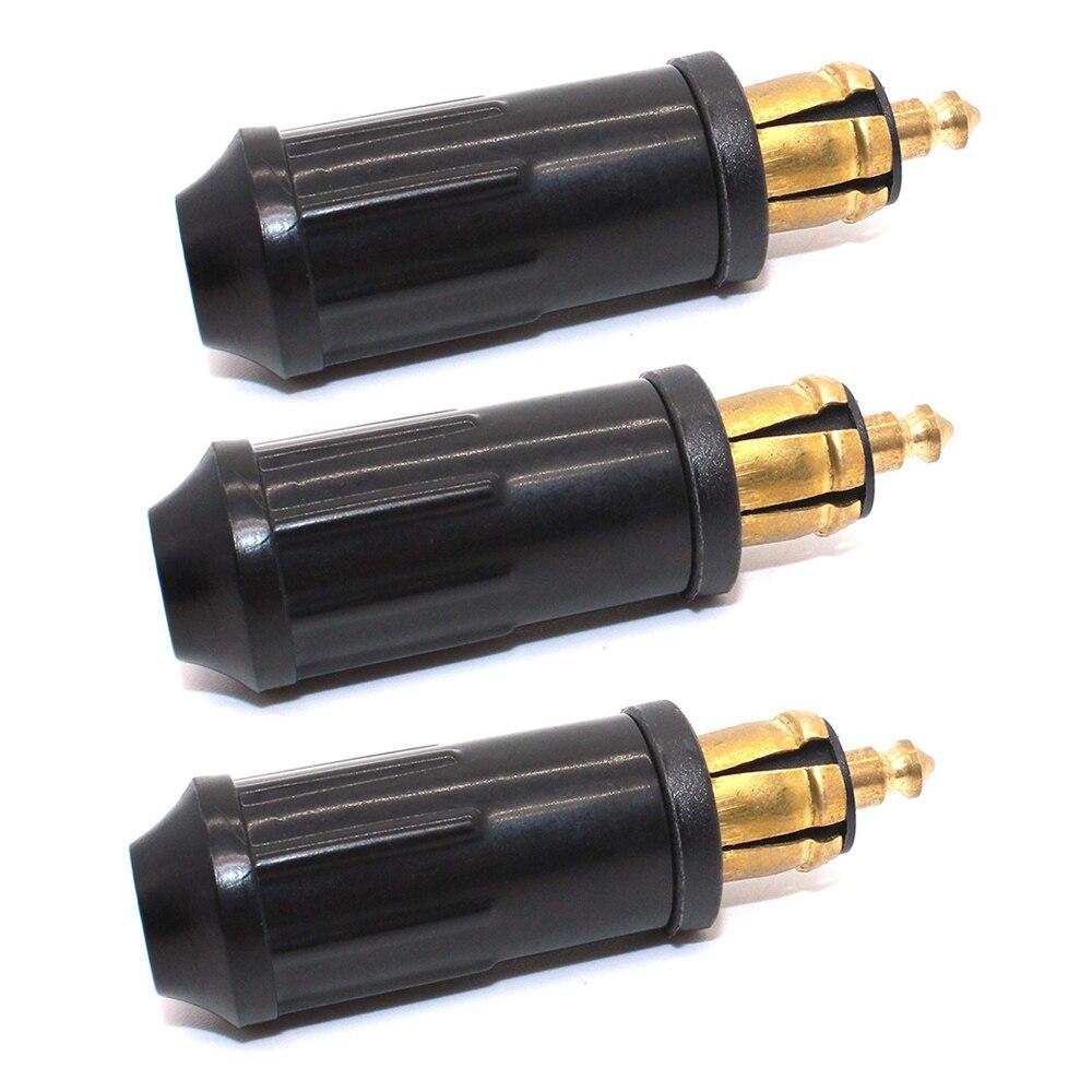 3 uds DIY DIN Hella enchufe macho Powerlet Enchufe europeo tipo 12v encendedor de cigarrillos conector adaptador para motocicletas BMW
