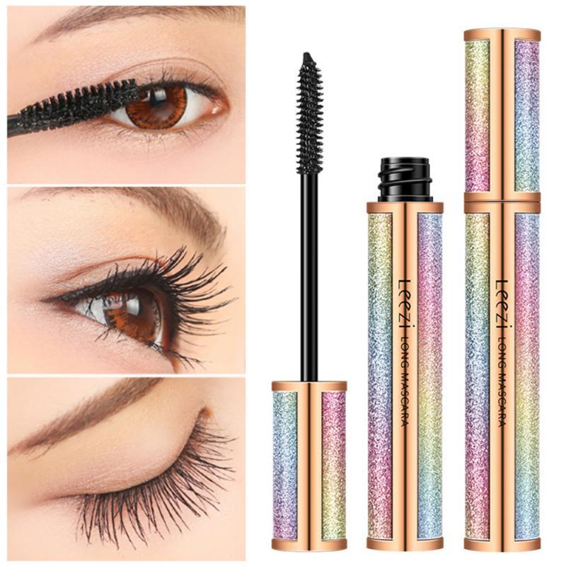 4D Silk Fiber Lash Mascara Long Curling Mascara Black Eyelash Waterproof Extension Volume Fiber Lasting Eye Lashes Makeup TSLM1 недорого