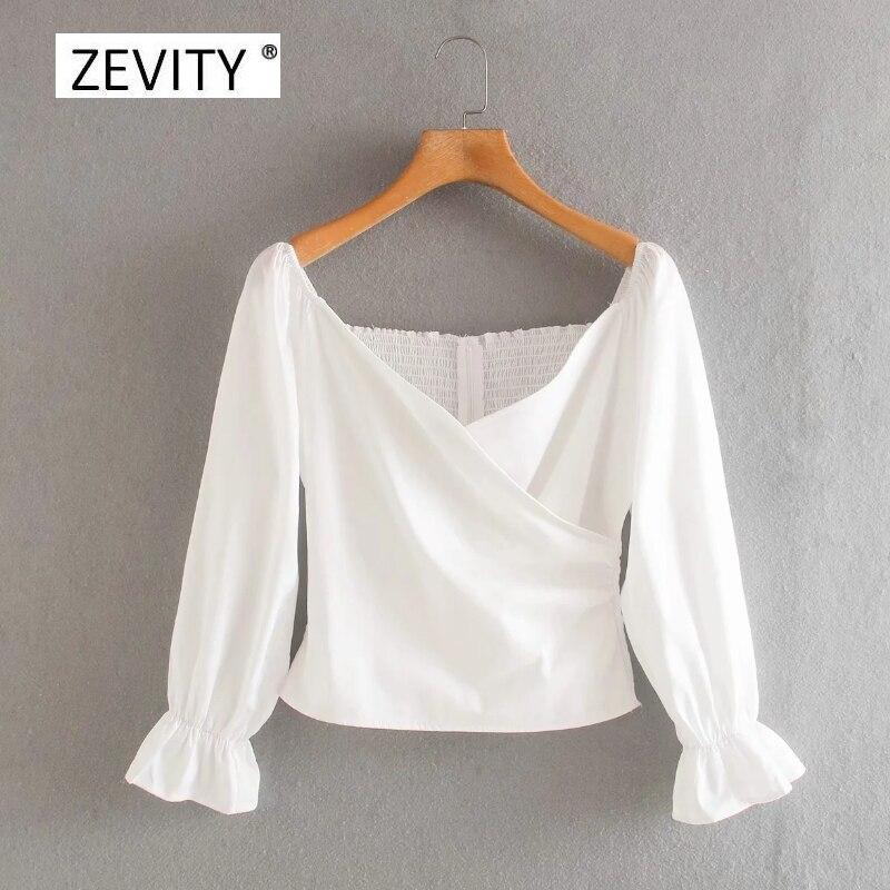 Nueva blusa sexy para mujer, sin hombros, de color liso, con cremallera en la espalda, elástica, informal, ajustada, blusa chic LS6966