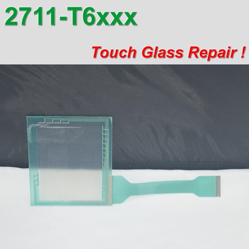 ألين برادلي PanelView 600 2711-T6 2711-T6C محول رقمي بشاشة لمس زجاجية 2711-T6C1 لإصلاح اللوحة ، متوفر