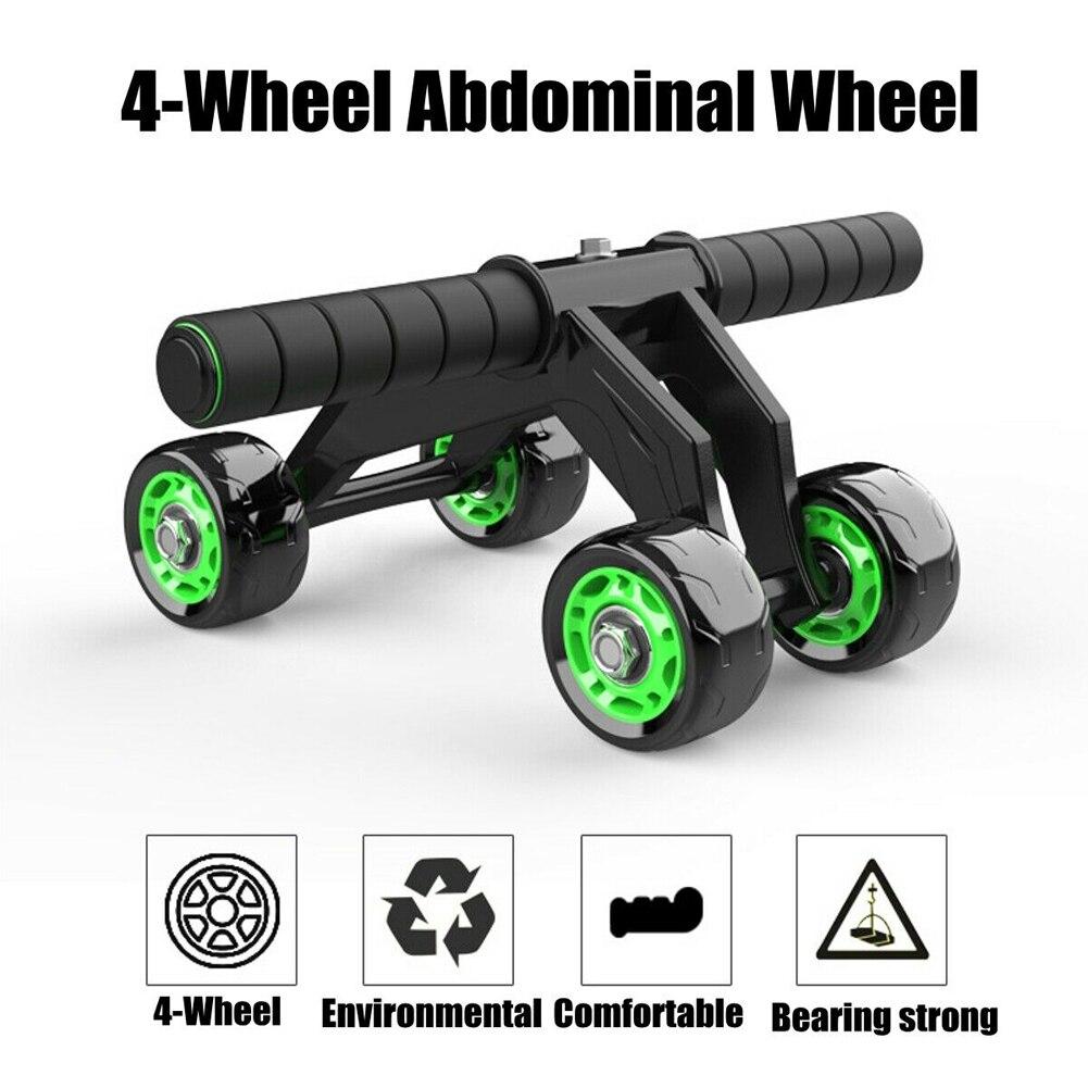 4 ruedas abdominales Fitness rueda rodillo AB músculo entrenador en forma ruedas para la cintura piernas ejercicio casa equipo para entrenamiento en gimnasio