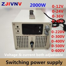 Alimentation électrique de commutation 2000w   0-12V 24v 36v 48V 60V 70V 80V 90V 110V 220V 300V 400v 600v V, tension réglable et courant dalimentation