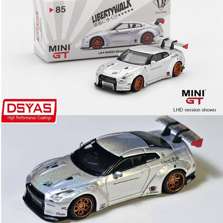 MINI GT 1:64 LB Works Nissan GTR R35 LHD DSYAS Taiwan Limited Edition Model Diecast Model Car
