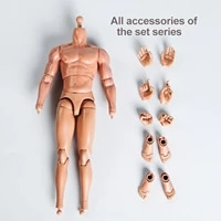 16 scale flexible seamless muscular male body toy 29cm heigth doll