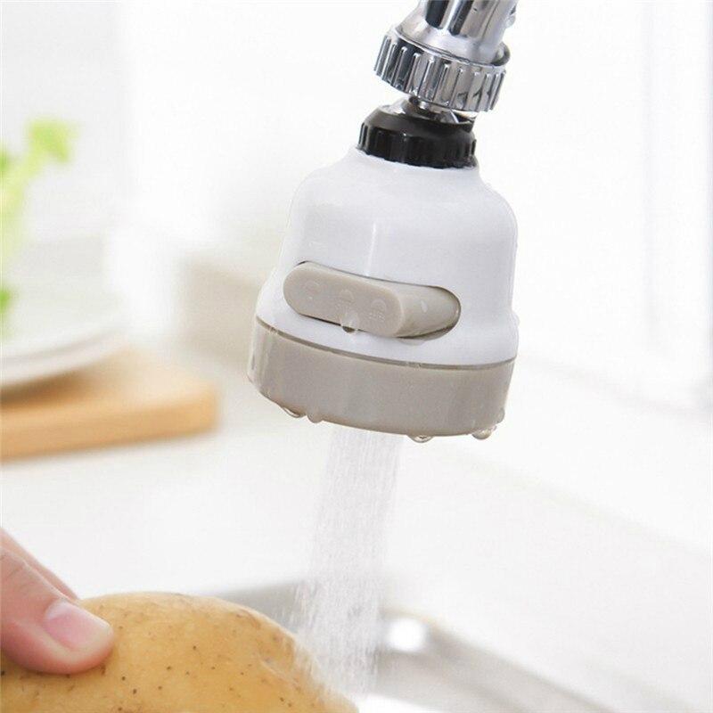 Robinet de cuisine à 3 niveaux réglables, rotation à 360 degrés, économie deau, salle de bains, douche, accessoires de robinet filtré