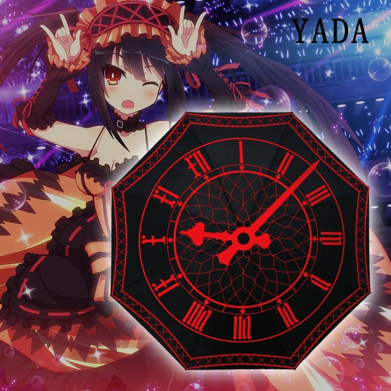 YADA nuevo paraguas creativo Anime plegable lluvia planeta estelar paraguas UV a prueba de lluvia sol estrella universo Series paraguas mujer YD306
