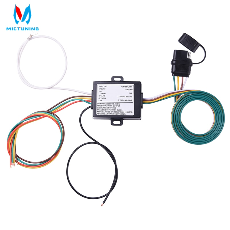 Micضبط الأسلاك تسخير محولات الإضاءة بالطاقة 3 إلى 2 سلك مقطورة أضواء خلفية محول لسيارة 12 فولت مع اللون مشفرة