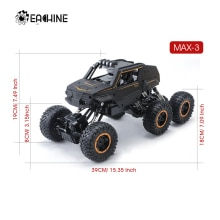 Eachine EA01 Big Size 20 to 39CM 1:12 RC Car 6WD 2.4Ghz Remote Control Crawler with Light Off Road V