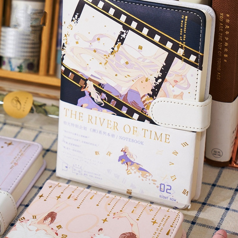 Time River Faux Leather Cover Journal Diary Beautiful Notebook Notepad Planner Stationery Gift rabbit nina faux leather cover journal diary cute notebook notepad girls planner stationery gift