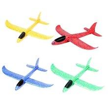 37cm mousse avion avion jouets main jeter Epp lancement planeur Flexible avion enfants cadeau jouet gratuit mouche avion Puzzle modèle jouet