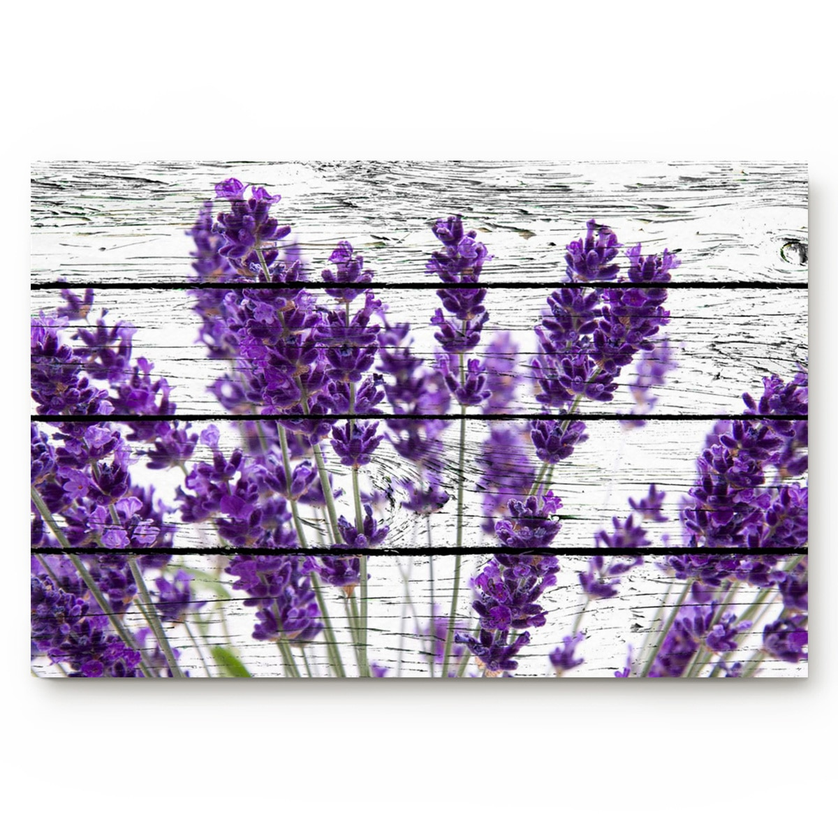 Purple Lavender Wood Board Vintage Style Bathroom Non-slip Doormat Bathroom Accessories Living Room Kitchen Doormat