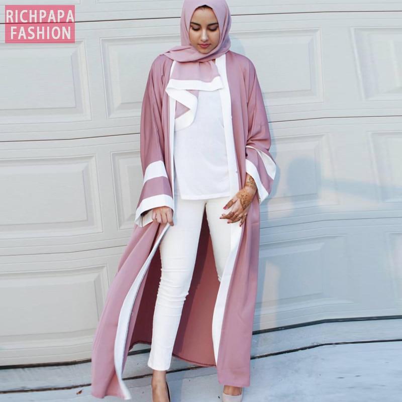 Abaya dubai longo kimono cardigan vestido muçulmano turco roupas islâmicas qatar eau kaftan abayas para mulher com hijab elbise