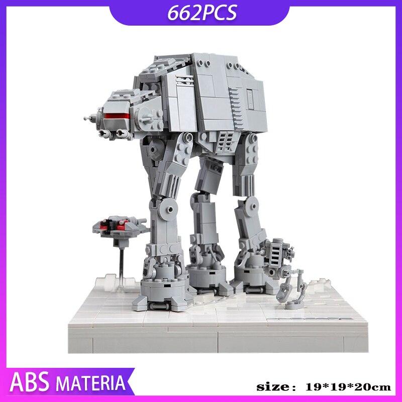 MOC Star Ruimte-Micro Aanval Op Hoth Op AT-ST, 662 uds, bloques de...