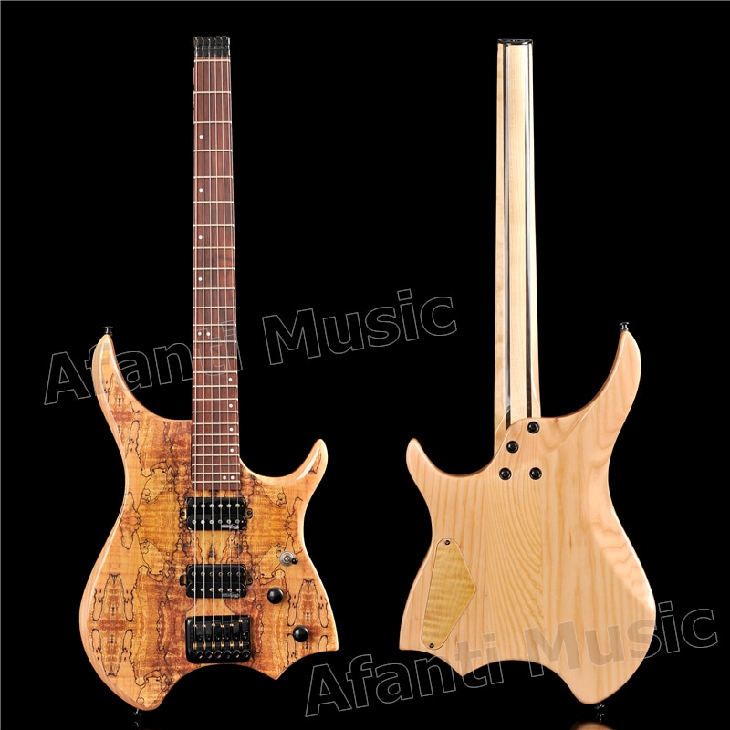 Guitarra Eléctrica Afanti Music factory con cuerpo de ceniza sin cabeza (AWT-718S)
