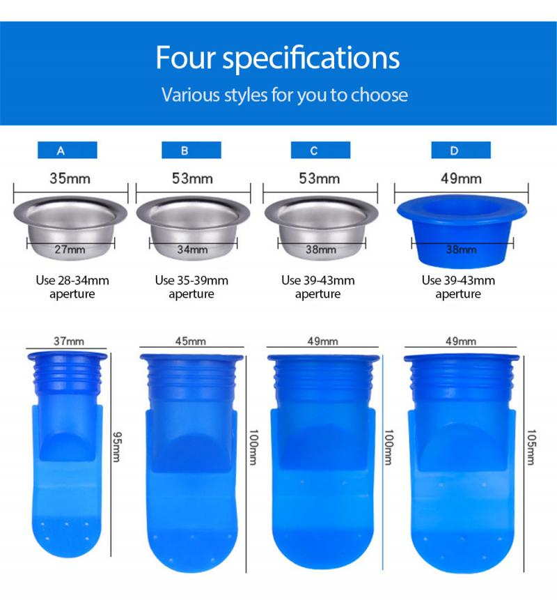 Deodorant Silicone Core Sewer Seal Ring Bathroom Washing Machine Anti-backflow Floor Drain Toilet Kitchen Household Products