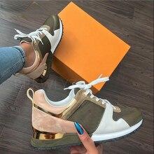 ใหม่แฟชั่นรองเท้าผ้าใบผู้หญิงเสือดาวพิมพ์หนังหนาด้านล่างรองเท้าผ้าใบรองเท้าผ้าใบสบายๆ...