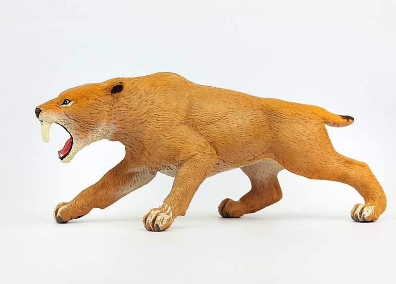 Новая модель реального тигра пластиковая зубчатая кукла-Тигр подарок около 15,3x4,7x5,8 см xf3018