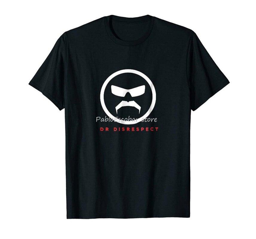 Dr. Disrespect Black T-Shirt 4XL 5XL Full-Figured Tee Shirt men summer tshirt male tee-shirt 4XL 5XL drop shipping