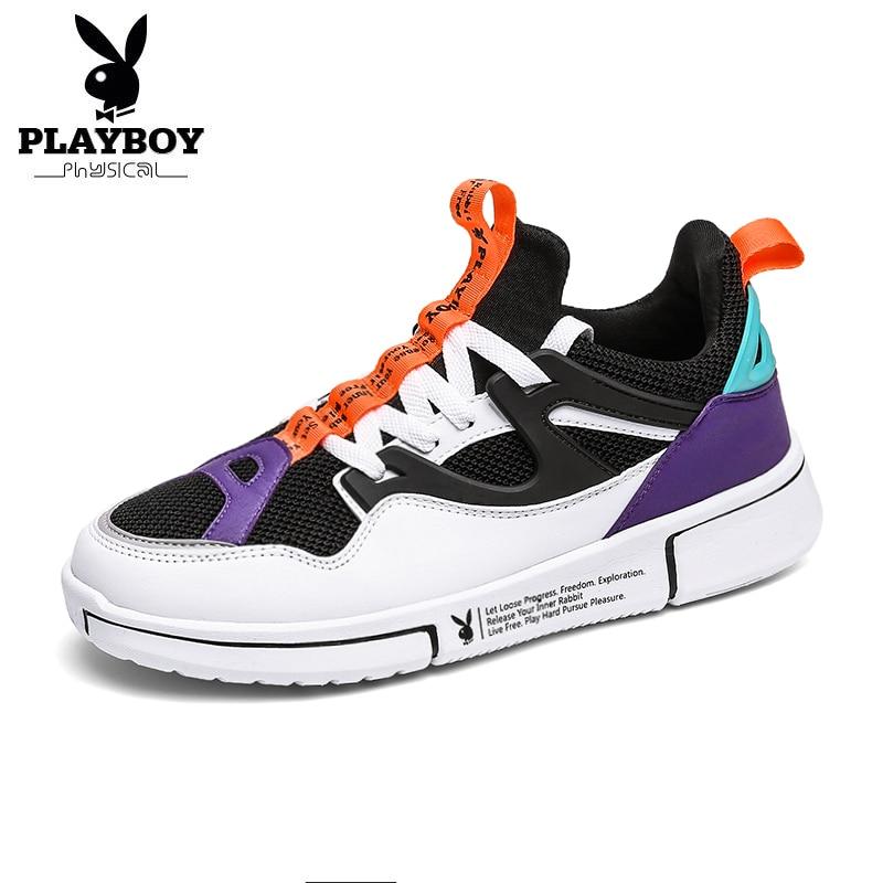 PLAYBOY nuevos zapatos casuales transpirables para Hombre al aire libre zapatos cómodos de moda Zapatillas de caminar para Hombre Zapatillas Hombre