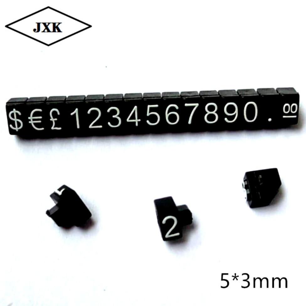 Números de 20 piezas, etiqueta de precio, bloques de montaje, barra combinada de dígitos numéricos, signo de etiqueta, reloj, precio de joyería, marco de exhibición, precio europeo