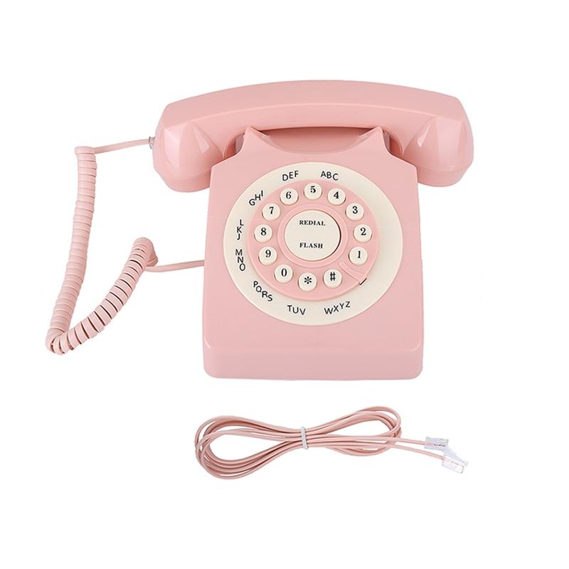 Новинка 2021, Классический ретро-телефон 80-х годов, стационарный телефон, домашний/гостиничный проводной телефон, телефон в европейском стиле