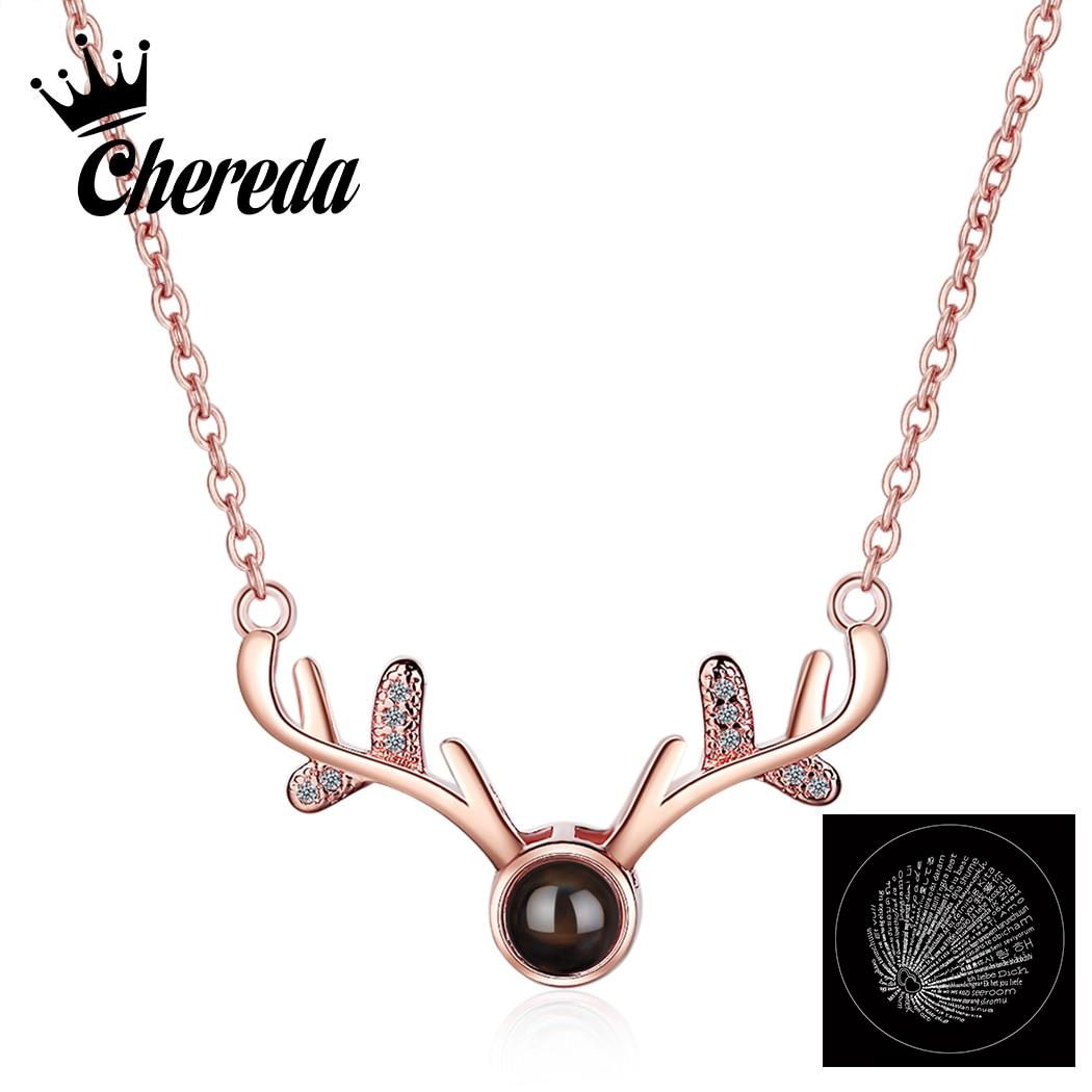 Collar bonito con cuernos de Chereda, colgante de cadena de plata con...