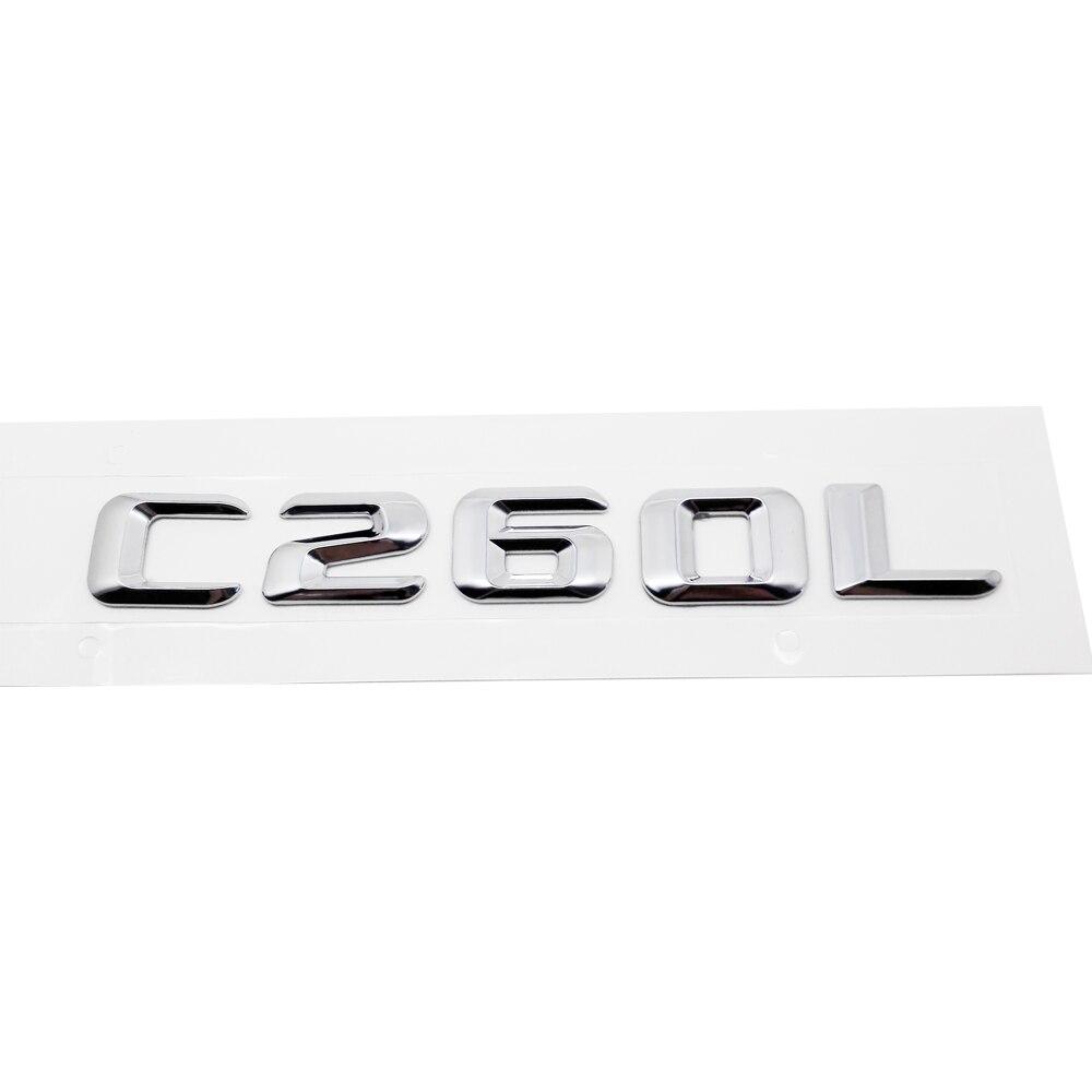 Para Mercedes Benz clase C 190E W201 W202 W203 W204 W211 C260L coche puerta trasera Logotipo de emblemas letras pegatina insignia Decoración