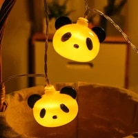 panda head led light string for childrens room christmas light night light toy lamp christmas lights gifts home decorations