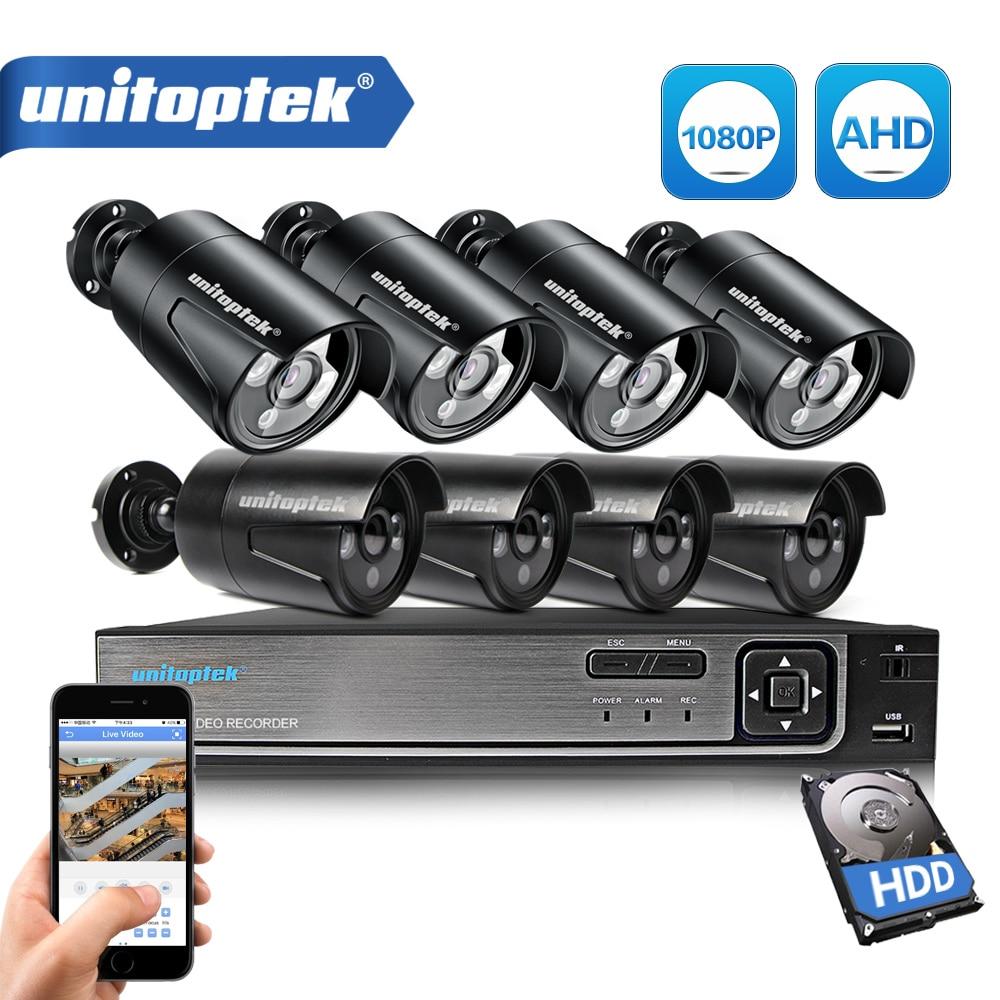 3 IN 1 8CH 1080P Sicherheit AHD DVR NVR CCTV System 2,0 MP 3000TVL Wetterfeste Außen Kamera AHD-H Video überwachung Kamera Set