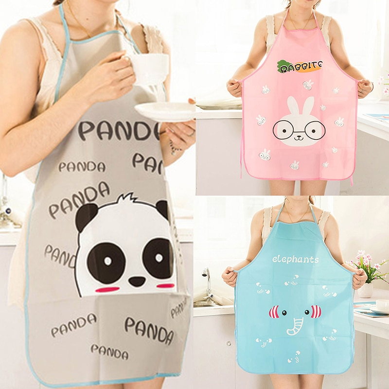 Household Lovely Cartoon Creative  Apron Sleeveless Waterproof Anti-oil Aprons for BBQ Kitchen Cooking  Apron Kitchen geometric style hot sale high quality cotton waterproof women aprons adjustable sleeveless kitchen cooking aprons