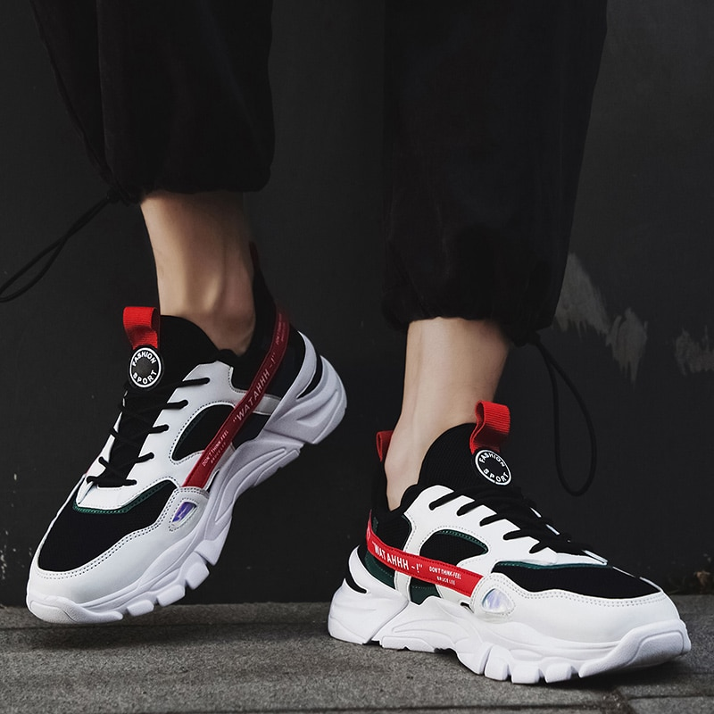 CRLAYDK New Sports Shoes Ins Hot Men's Fashion Color Matching Increased Sneakers Youth Boys Students Casual Running Tennis